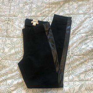 J Crew Gigi Leather side skinny pants